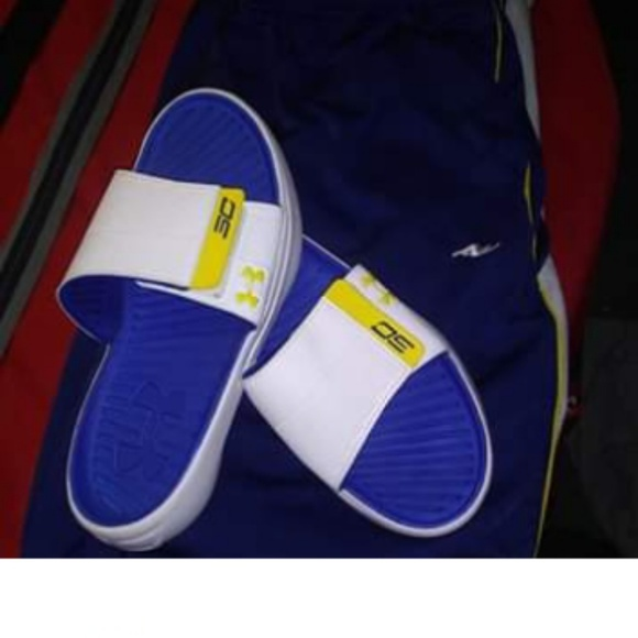 check out 47cc5 6d94b Mens Under Armour Stephen Curry slides 8